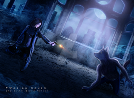 Underworld - Selene and the Lycan by Wesley-Souza