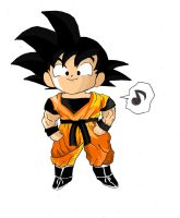 Commission: Chibi Goku. by graphicspark