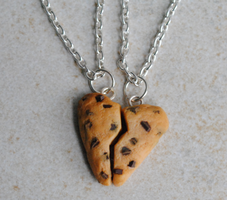 Heart Cookie Necklaces by ClayRunway