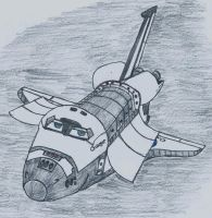 Space Shuttle Charger in Orbit by Tulmur95