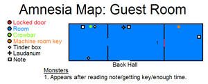 Amnesia Map: Guest Room by HideTheDecay