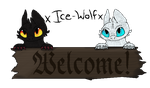 xIce-Wolfx  -  Welcome Sign by therealtwilightstar