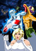 Powergirl and Captain Atom - First Dinner date by adamantis