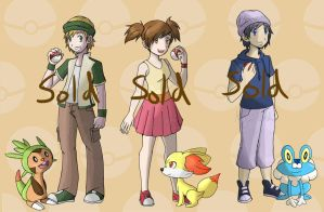 Pokemon Trainer Adoptables - CLOSED by Negai-Boshi