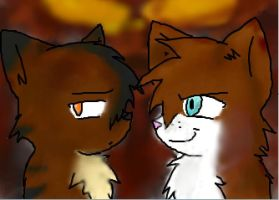 brambleclaw and hawkfrost by anime-animal