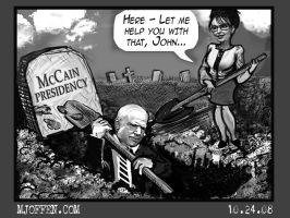 McCain Digs Political Grave by MJ0