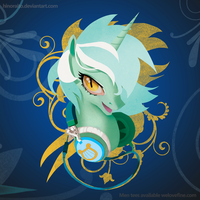 MLP FIM: Lyra Headphone Portrai shirt - Welovefine by hinoraito