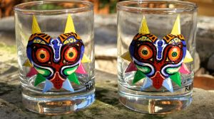 Majora's Mask shot glass by AstroRobyn