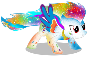 Galaxy Super Rainbow Dash by DigitBrony
