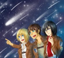 SnK - Look at the stars! by MaidenKonan27