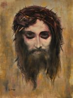 Christ's Head. by Jihorda
