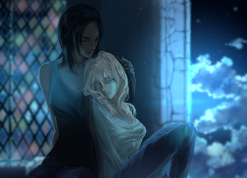 Christa and Ymir by Faesu