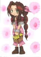 Aerith Chibi colo by ClaireRoses by ClaireRoses