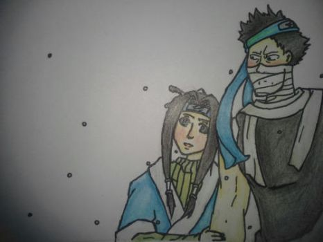 Zabuza and Haku in the snow by animer334
