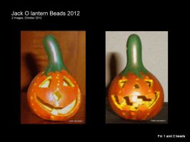 Two Finished gourd beads by tarpalsfan