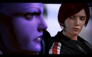 ME3 ODLC - Ellis Shepard and Aria by chicksaw2002