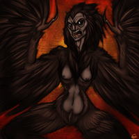 30 Day Monster Girl Challenge: Harpy by HellLemur