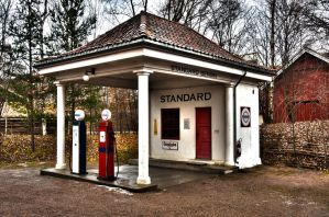 Old Time Gas Station by matthew83128