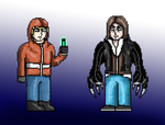 Prototype/Penumbra - Alex and Philip in 8-bit by SovietMentality