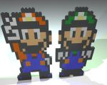 Mario and Luigi Lego Mosaics by gpsc