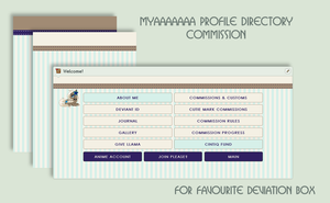Myaaaaaaa Profile Directory Commission by poserfan
