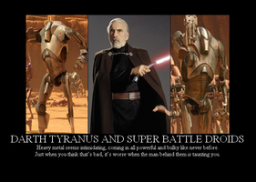 Tyranus and B2 Battle Droids by Winter-Phantom