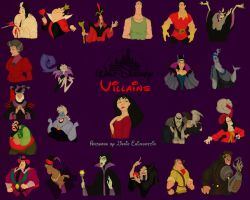 Disney Villains Wallpaper2 by panda-ai