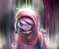 Izzy... What'chu doin in the rain? by Imp-y