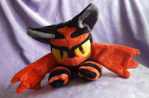 Litten inspired plush