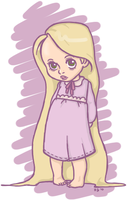 toddler rapunzel by littletelevision