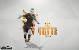 wallpaper franco totti 2015 by Designer-Abdalrahman