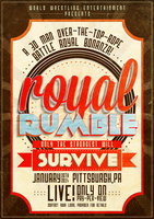 WWE Royal Rumble 2013 Poster by RicGrayDesign