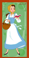 Belle peasant by Sweet-Amy-Leah