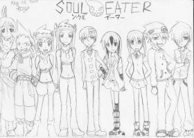 Soul Eater + OC Groupshot by aquamista