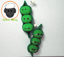 Peas in a Pod Charm by Hybrid-Sheep