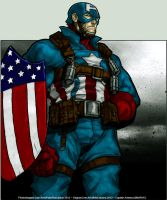 Old Skool Captain America by PokeTheCactus