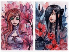 Watercolor Postcards by Enijoi