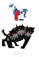 Shining Armour and Cerberus attempt by webkinzfun8