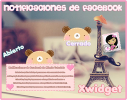 Kawaii Facebook Notifications xwidget by MinnieKawaiiTutos