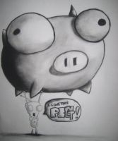 Gir Value Drawing 'with Pig' by The-Evil-Pacman