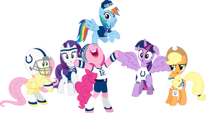 Mane Six Super Bowl Cheer 2 by Jeatz-Axl