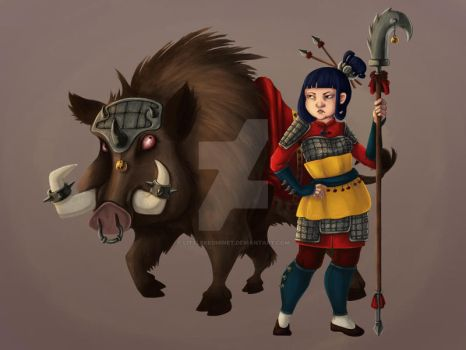 Boar Warrior by LittleRedMinet