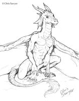 Dragon sketch 3 by ChrisSawyerArt