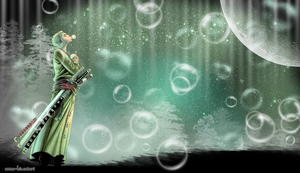 Zoro x Bubbles wallpaper by AnnaHiwatari