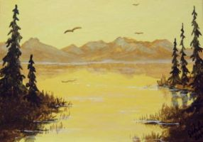 ACEO Sepia Sunset by annieoakley64