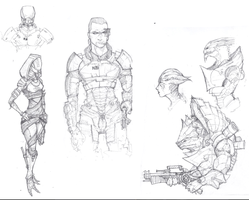 Mass Effect Sketchbook by Captain-Jesse