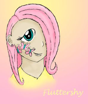 Fluttershy- Anime girl version! by Hope2Fly