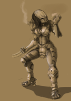 Female Predator -WIP- by ZabakeN