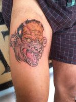 Niles' Werewolf Tattoo by The-1One