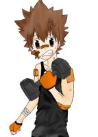 Tsuna in the Gym by hk-1440